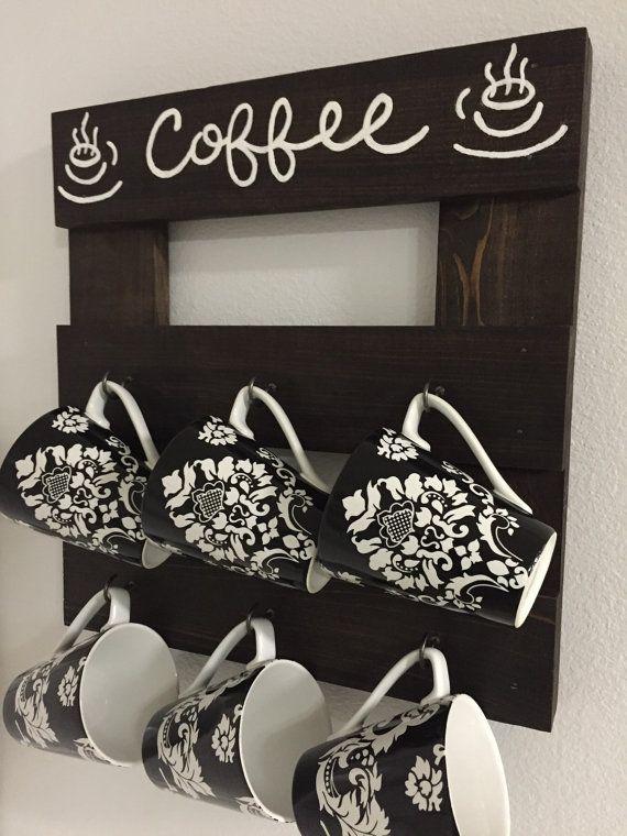 Coffee mug holder Coffee mug rack Coffee cup by PeavyPieces