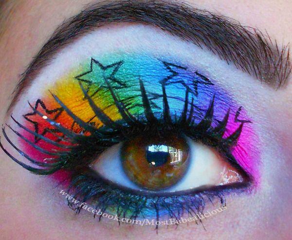 Eye Shadow for Rainbow Brite Costume