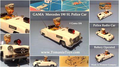 GAMA Mercedes 190 SL Police Radio Car Tom's Toy World - TomaniaToys