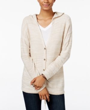 Freshman Juniors' Hooded Cardigan - Gray S | Brown, Shops and Products