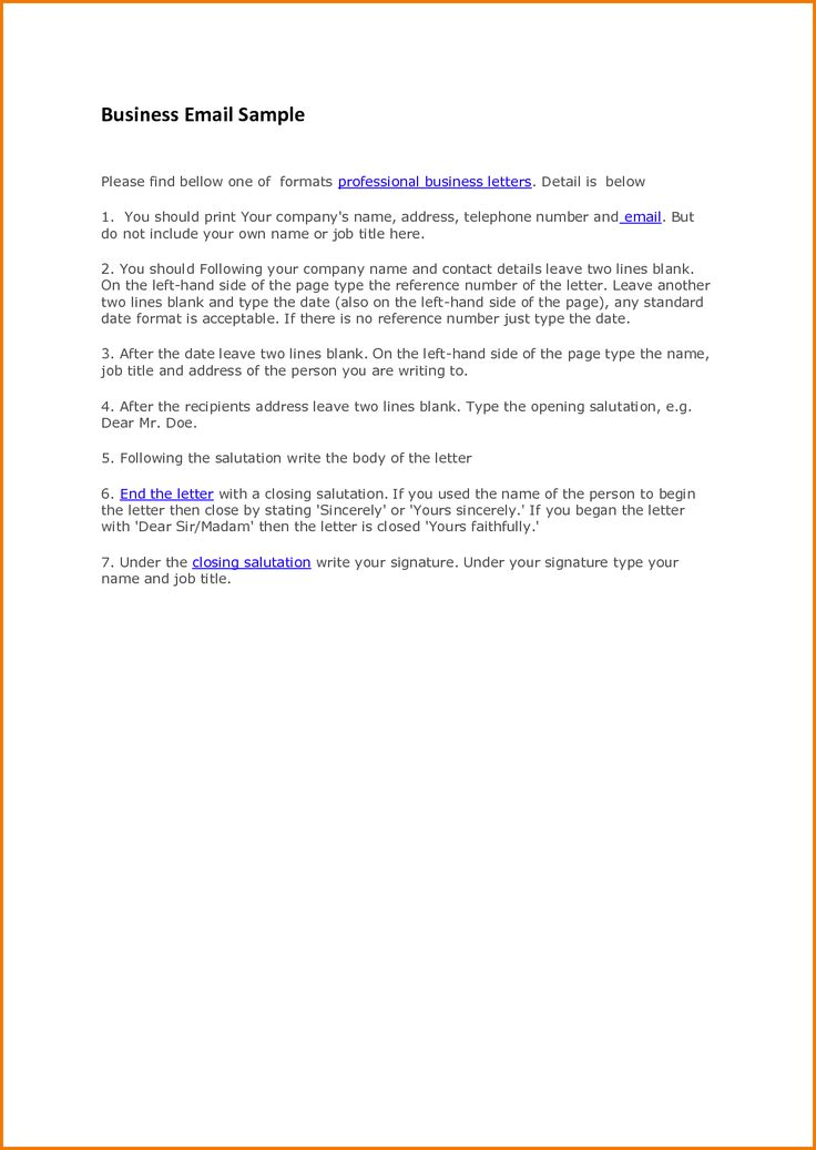 professional business letters