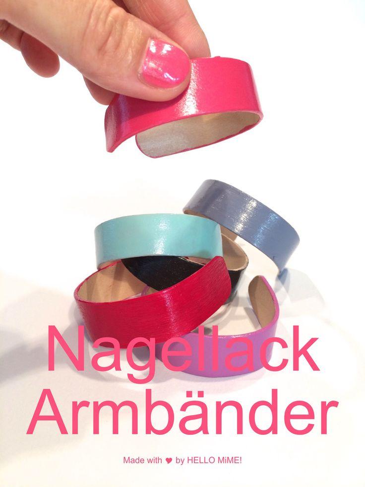 Armband Nagellack DIY