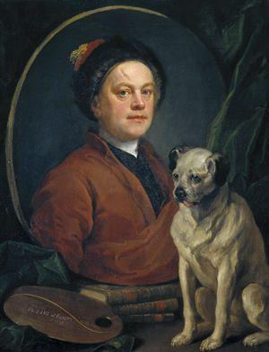 "William Hogarth,  ""Painter and his Pug"", 1745"