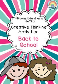 The Back to School Creative Thinking Matrix for Years 3- 6 has been created to encourage creative and critical thinking. Includes 42 activities and task caked ~ Rainbow Sky Creations ~