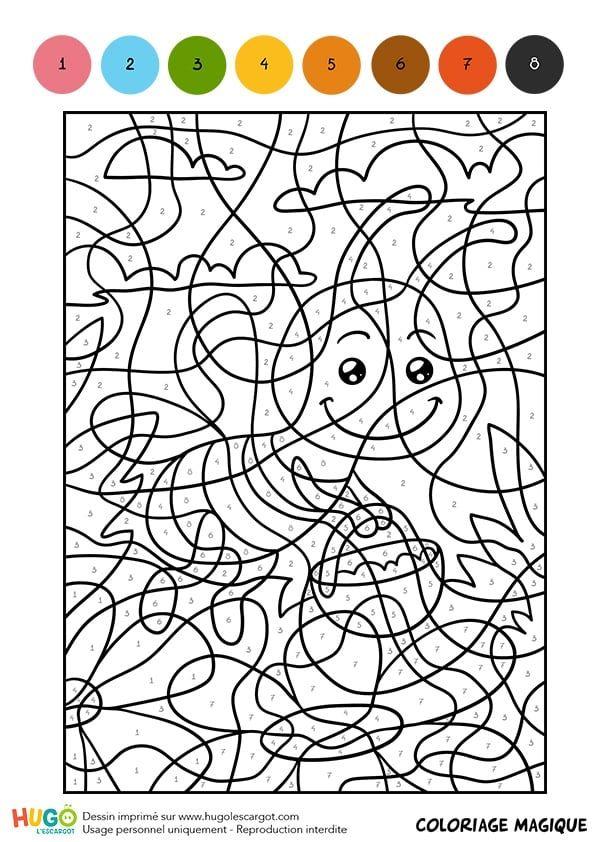 Coloriage Et Illustration D Un Coloriage Magique Cm1 Une