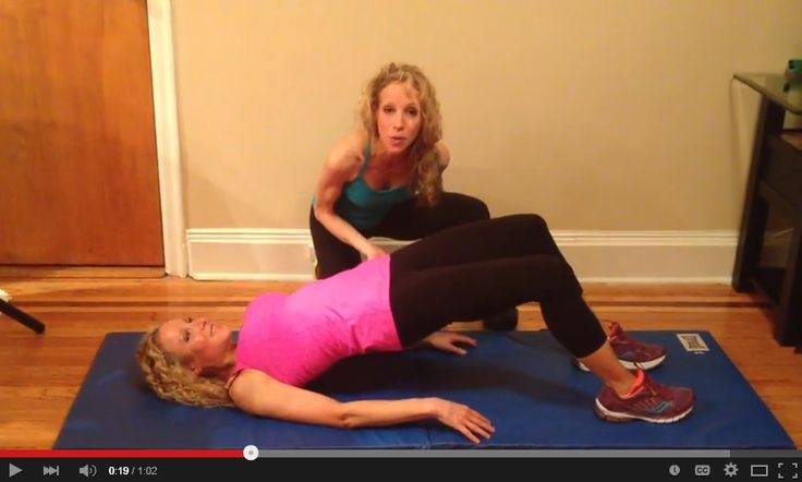 Get a Perkier Butt with Glute Bridge with Variations| Firms Butt & Hamstrings-- No Equipment Needed! The Nutrition Twins show you how- 1 minute video | For MORE RECIPES, Fitness & Nutrition Tips please SIGN UP for our FREE NEWSLETTER www.NutritionTwins.com