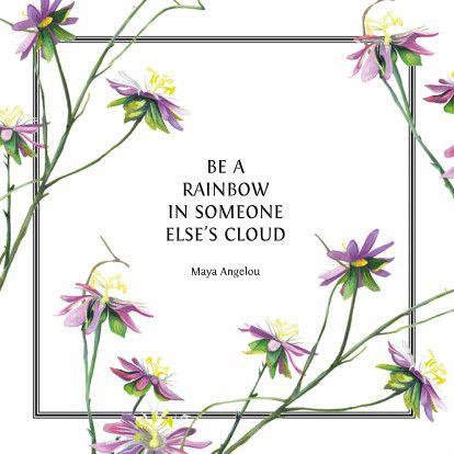 Positieve en stijlvolle kaart met spreuk en bloemen. Voor bedankt, zomaar of ondersteuning. #quotecard #quote #card #floral #pink #green #plants #drawing #painting #illustration #art #greetingcard #squarecard #framedcard #ondersteuning #wenskaart #kaartje #vierkant