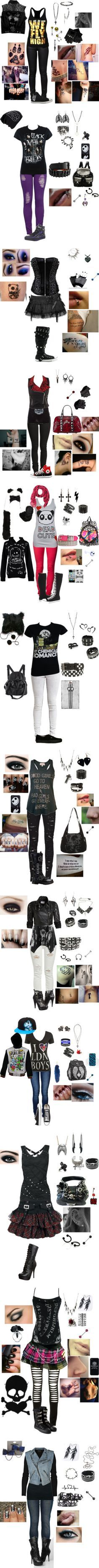 """""Emo"" clothes part 5 :)"" by foreverbroken ❤ liked on Polyvore"