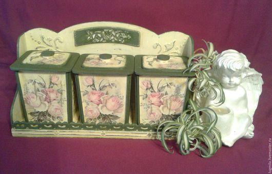 Кухня ручной работы. Ярмарка Мастеров - ручная работа. Купить Винтажные  розы. Handmade. Декупаж, красивый подарок, Декупажная салфетка
