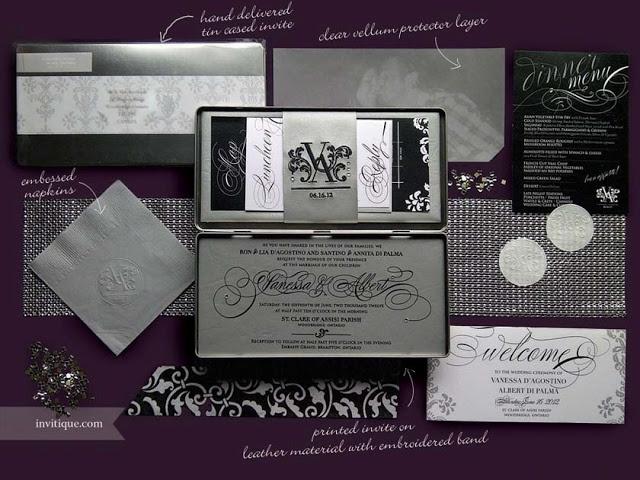 205 best boxed invitations images on pinterest box invitations invitiquespot invitique unique boxed wedding invitation black stopboris Images