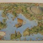 Roberto Innocenti - Mappa del parco archeologico della provincia di Napoli - 2007 - china e acrilico liquido