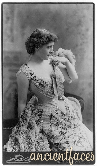 The beautiful and talented Lilly Langtry was a popular British stage actress in the late 1800's through early 1900's and starred in multiple productions. However, her legacy is also remembered in part thanks to her reputation for building relationships with royalty - including the Prince of Wales, Albert Edward, and Prince Louis of Battenberg. Original source: http://www.ancientfaces.com #lilly #langtry