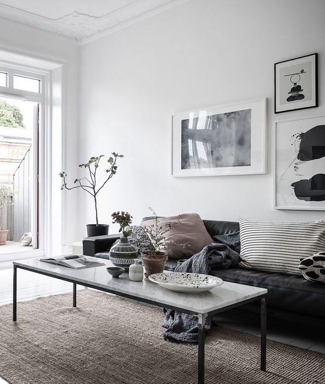 Black White And Nude Via Coco Lapine Design Living