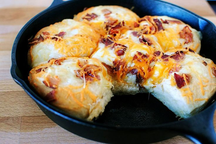 Cheesy Bacon Biscuits | Beans | Pinterest