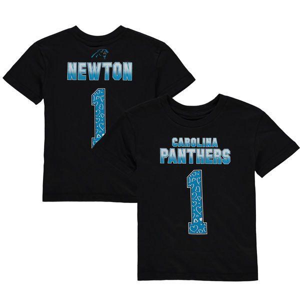 Cam Newton Carolina Panthers Girls Preschool Fade Route Name & Number T-Shirt - Black - $19.99