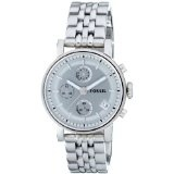 Fossil Women's ES2198 Stainless Steel Bracelet Silver Analog Dial Multifunction Watch (Watch)By Fossil