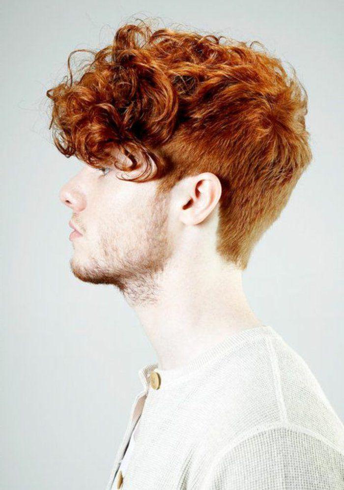 homme modèle aux cheveux oranges, tendances chez les coupes de cheveux homme 2017