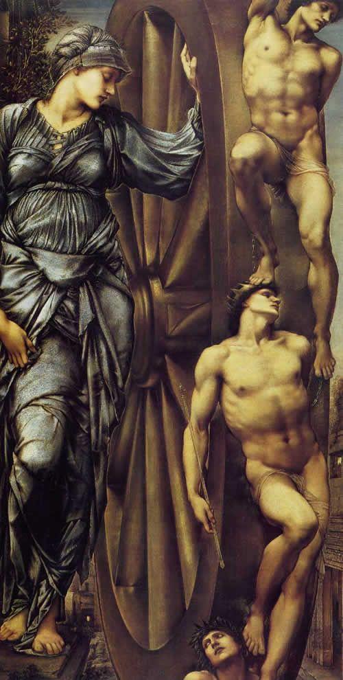 Edward Burne Jones  La ruota della fortuna
