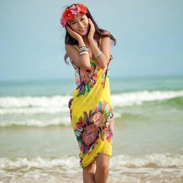 Floral Charm Beach Dress