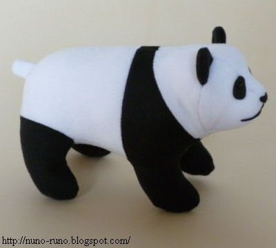 Oso panda en tela