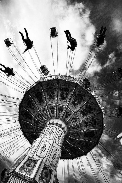 can you tell me how to defy gravity?  well, sure, just swing out and go really, really fast in a circle of friends.
