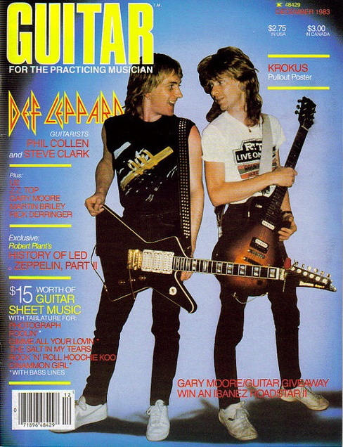Def Leppard on the Cover of Guitar for the Practicing Musician. I had this magazine back in the day