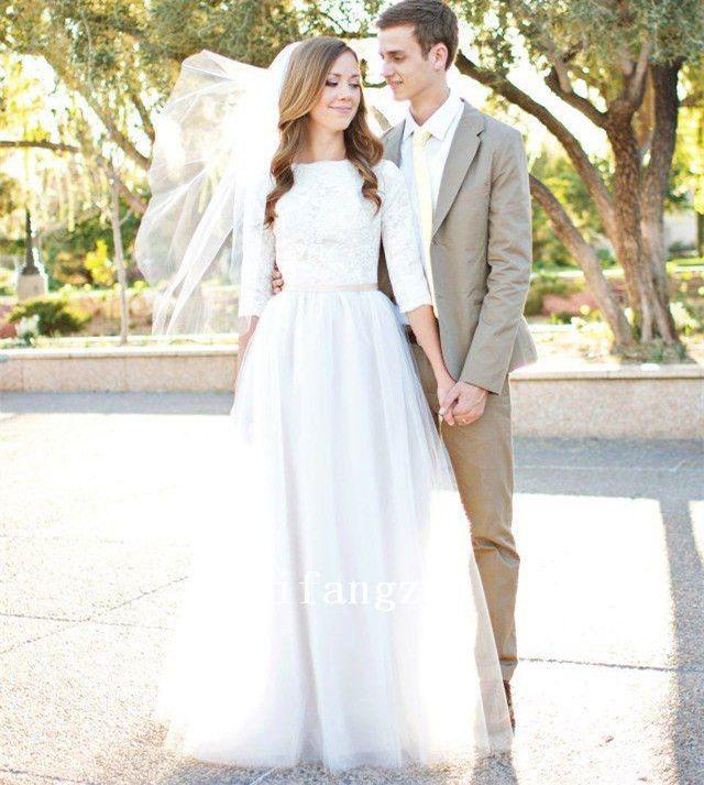 Blanco Encaje Vintage Vestido De Boda Vestidos Jardín Vestido De Novia Personalizadas Cuello Bote in Ropa, calzado y accesorios, Ropa de boda y formal, Vestidos de novia | eBay