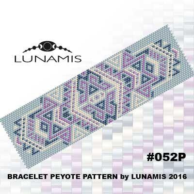 Peyote bracelet pattern peyote pattern от LunamisBeadsPatterns