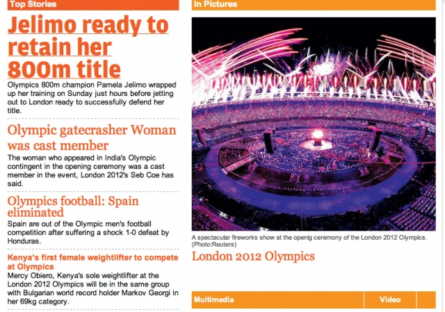 114 The enthusiasm over the celebration of the olympic games is apparent when looking at the size and positioning of the image in the screenshot. Individual accomplishment does not seem to be the focus in this newsource.