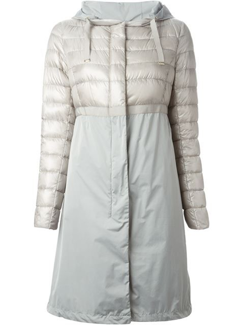 Herno Paneled Hooded Coat - Feathers - Farfetch.com