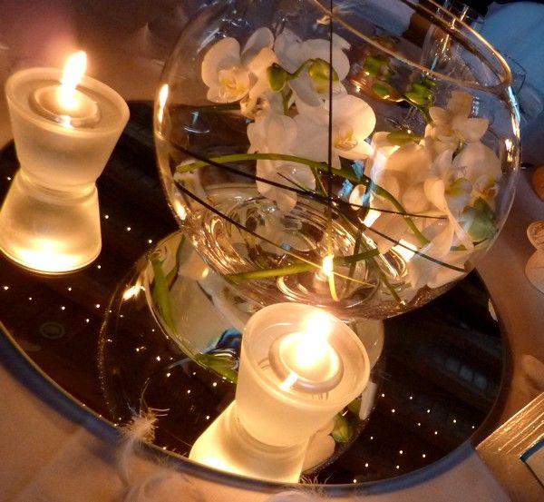 Les 25 meilleures id es de la cat gorie vase boule sur pinterest centre de table boule de - Centre de table avec miroir ...