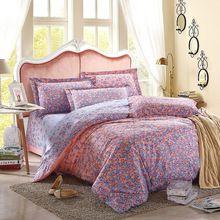 100% tributo algodão de seda conjunto de cama 3D conjuntos de cama Queen Size colcha de cama consolador capa de edredão(China (Mainland))