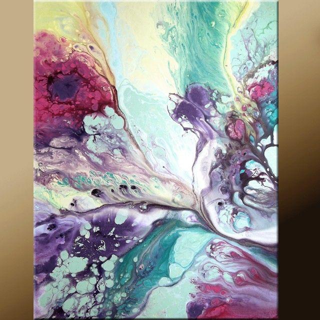 11x14 Abstract Fine Art Print - Contemporary Modern  Art  by Destiny Womack  - In Heaven - dWo. $20.00, via Etsy.