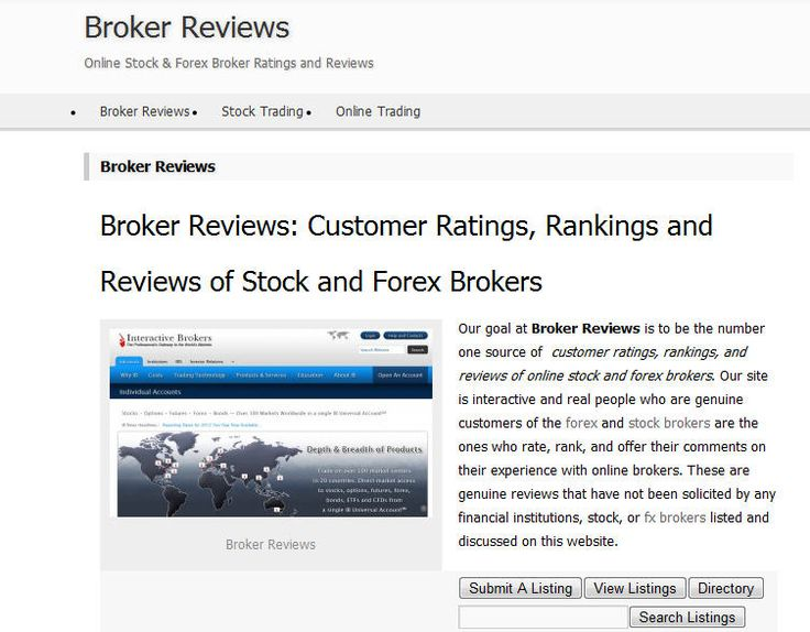 Online forex broker rating