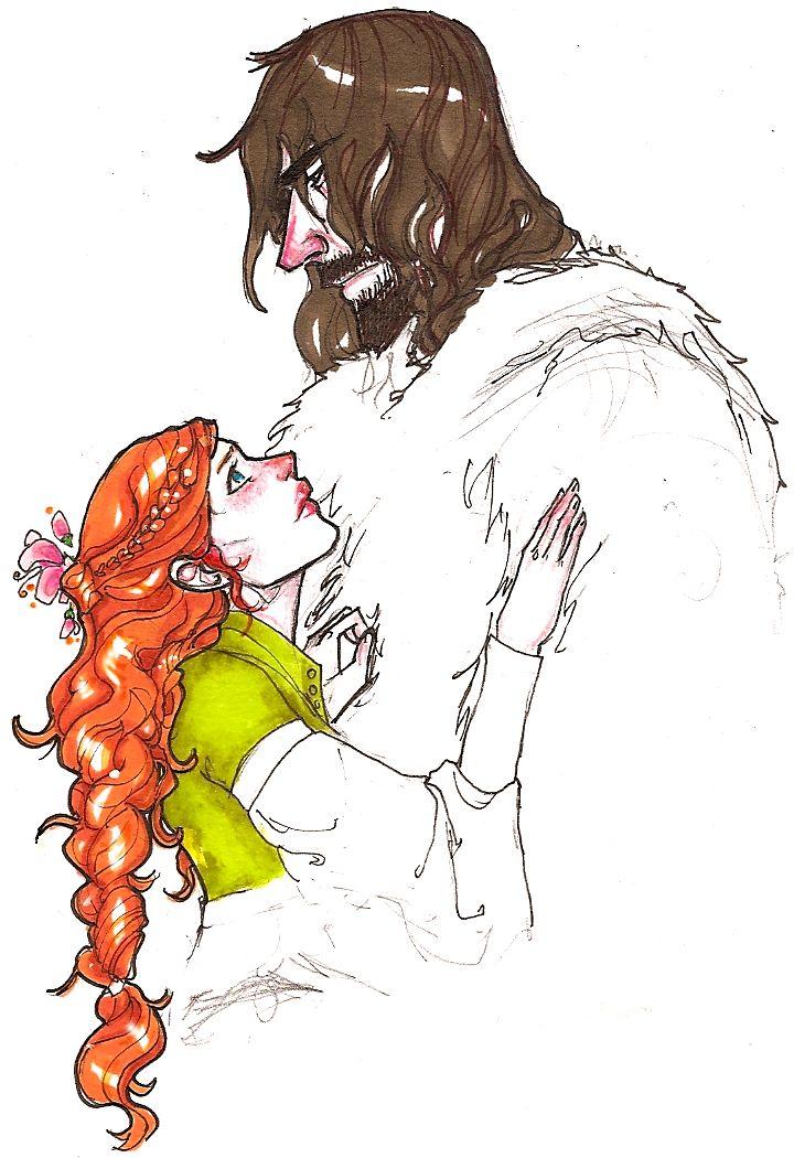 Sandor/Sansa by ~hedgehog-in-snow on deviantART