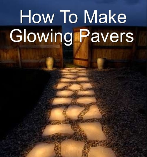 How To Make Glow In the Dark Pavers Or Pathway...http://homestead-and-survival.com/how-to-make-glow-in-the-dark-pavers-or-pathway/