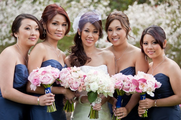 Blue Dress Pink Flowers: Pink Flower
