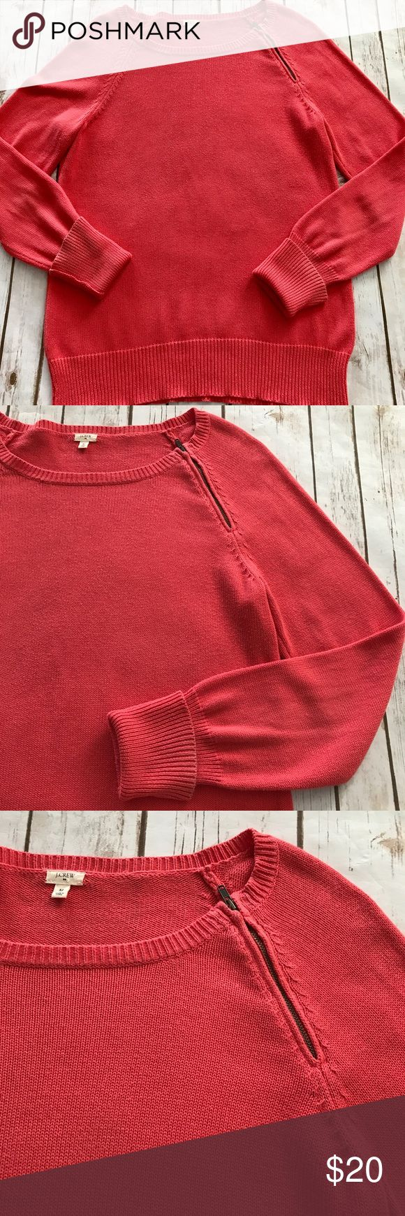 J. Crew - Lovely Coral Sweater, Size Medium J. Crew - Lovely Coral Sweater, Size Medium. In good preowned condition, some very minor signs of wear. I just accordingly. Please be sure to check out all of my other boutique items. Same day or next business day shipping is guaranteed! J. Crew Sweaters