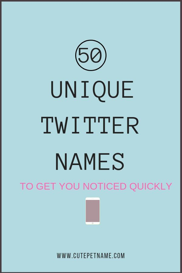 Twitter Names to Get Noticed Quickly Naming Guide | Unique