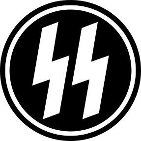 Éste es el emblema de la SS. Los nazis utilizaron el alfabeto rúnico. La fijación de los nazis por las runas se remonta a al autor alemán Guido von List, el aparente creador de el alfabeto de las runas (el aseguró que le aparecieron en la mente tras sufrir una ceguera temporal tras una operación de miopía).
