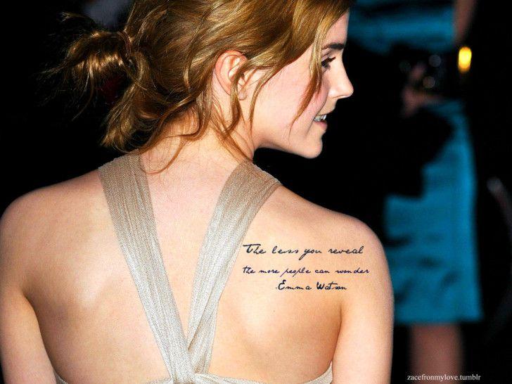 Emma Watson Wallpapers : Emma Watson Tatto Desktop Walpaper