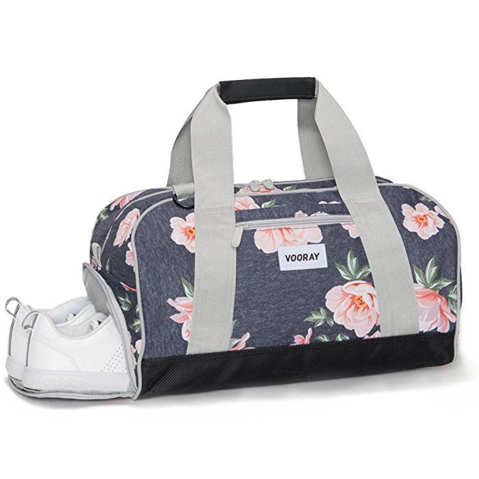 Vooray Burner 16 Compact Gym Bag With Shoe Pocket Rose Navy