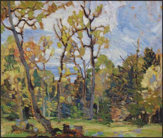 """Thornhill,"" Franklin Carmichael, oil on board, 10 x 12"", private collection."