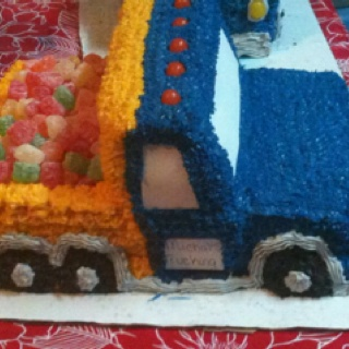 Great little boys birthday cake. OK...this is what I was thinking. Who wouldn't love a truck load of candy! I think the Boy would really like this.