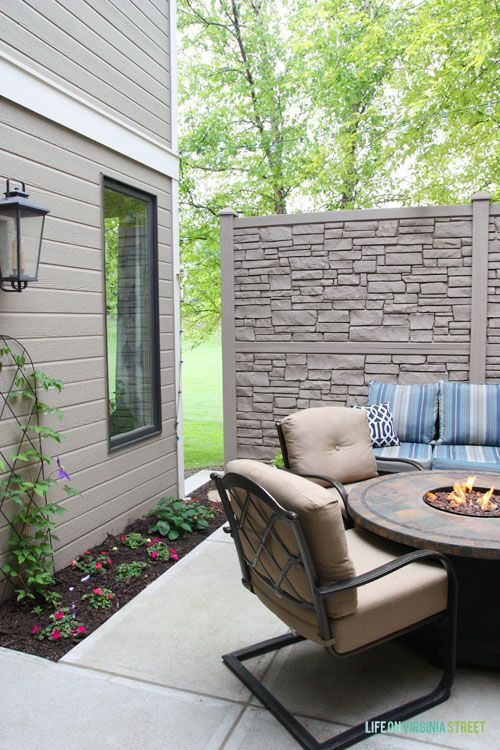rock panels entertainment area fake wall canada faux river exterior home depot