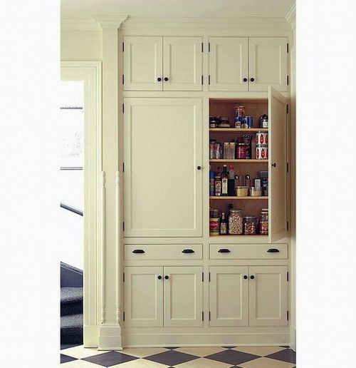 Built In Kitchen Pantry Ideas: Kitchen Pantry Cupboard Designs