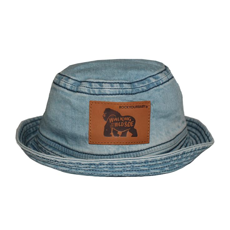 Wild Side Baby Hat Washed Blue Rock Your Baby