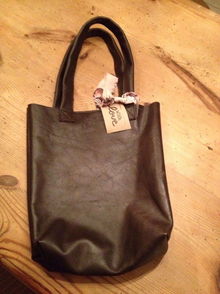 Cow leather shopper