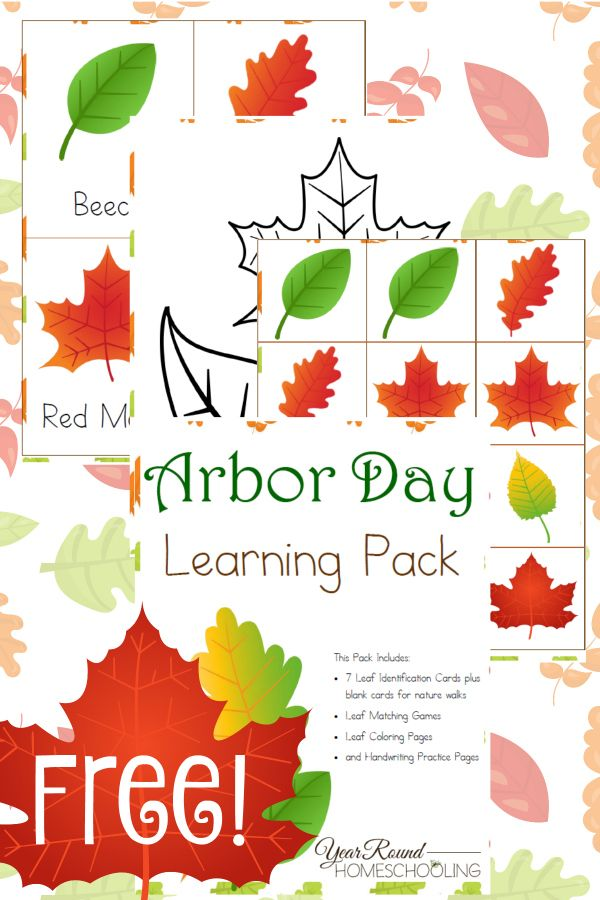 Free Arbor Day Learning Pack - Year Round Homeschooling
