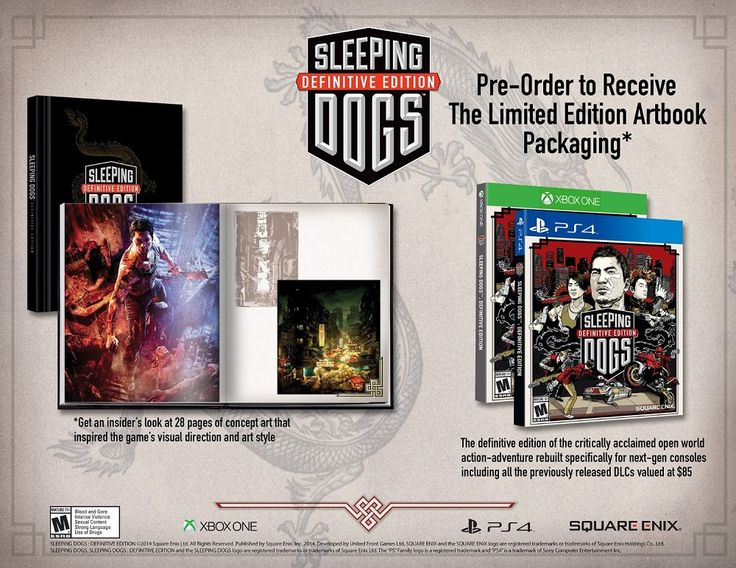 Sleeping Dogs Remastered for PC, PS4 and Xbox One